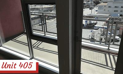 Patio / Deck, Palms Apartments, 2
