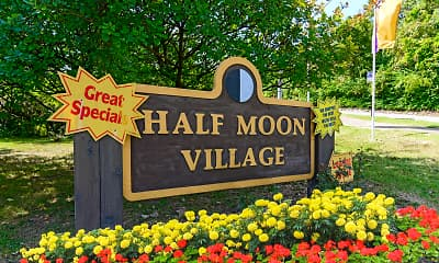 Community Signage, Half Moon Village, 2