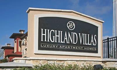 Community Signage, Highland Villas Apartments, 2