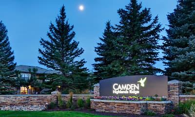 Community Signage, Camden Highlands Ridge, 2