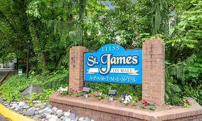Community Signage, St. James on Hall, 2