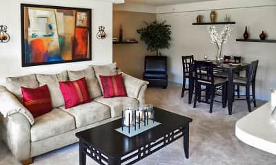 Living Room, Autumn Woods, 1