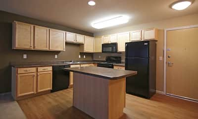 Kitchen, Minot Place Apartments, 0