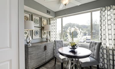 Dining Room, Satyr Hill Apartments, 1