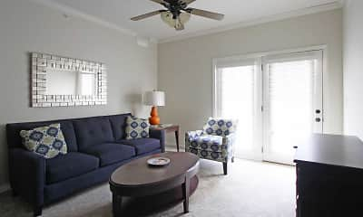 Living Room, Overbrook Apartments, 1