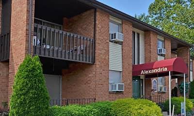 Building, Alexandria Apartments, 1
