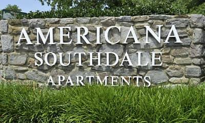 Community Signage, Americana Southdale, 2
