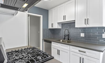 Kitchen, Rose Avenue Apartments, 0