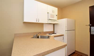 Kitchen, Furnished Studio - Rochester - South, 1