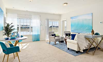 Living Room, Oceans East Luxury Apartment Homes, 1