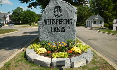 Community Signage, Whispering Lakes Apartments, 0