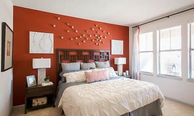 Bedroom, Creekside Townhomes, 2