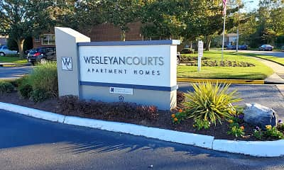 Community Signage, Wesleyan Courts Apartments, 0