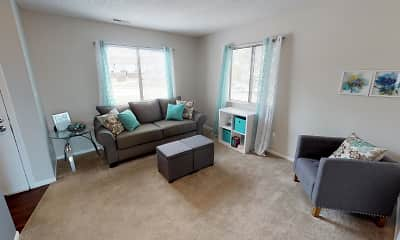 Living Room, Indian Woods Apartments of Evansville, 0