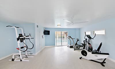 Fitness Weight Room, Ocean Air, 1