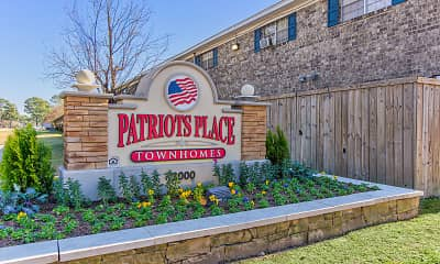 Community Signage, Patriots Place Townhomes, 2