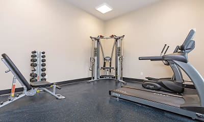 Fitness Weight Room, Riverside Townhomes, 1