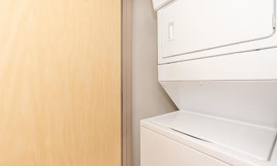 laundry area featuring washer / dryer, Capitol Rows, 2
