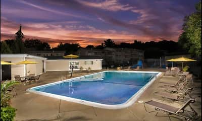 Pool, Hilltop Apartments, 2
