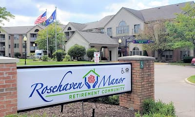 Community Signage, Rosehaven Manor Senior Living, 0