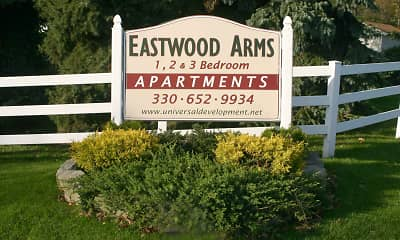 Community Signage, Eastwood Arms Apartments, 1