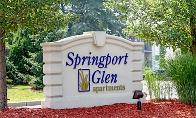Community Signage, Springport Glen, 2