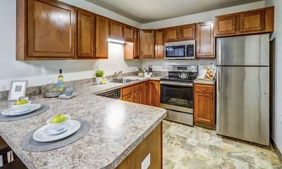 Kitchen, Eastland Court Senior Apartments, 1