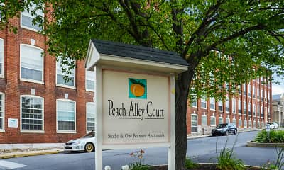 Community Signage, Peach Alley Court, 2
