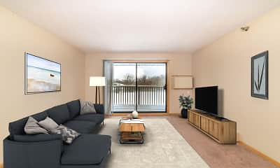 Living Room, Lakewood Hills Apartments, 1