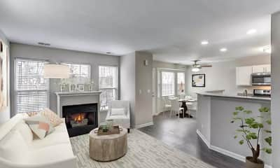 Living Room, Lakeview Townhomes at Fox Valley, 0