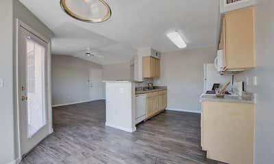 Kitchen, Newport Village Apartments, 2