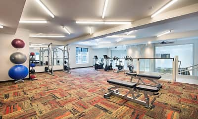Fitness Weight Room, COMING SOON-Lewisville Lofts, 2
