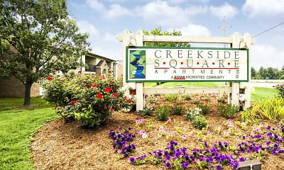 Community Signage, Creekside Square Apartments, 2