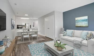 Living Room, Harbor Station Townhomes, 2