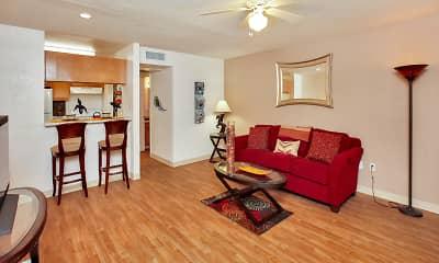 Living Room, Pavilions at Pantano, 1