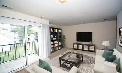 Living Room, The Flats at River Mill, 1
