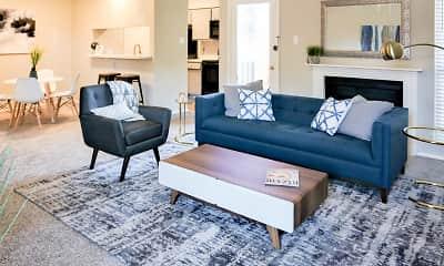 Living Room, Rock Island Apartments, 1
