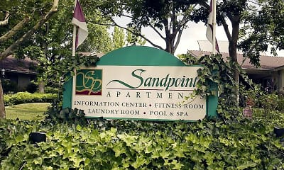 Community Signage, Sandpointe Apartments, 0