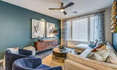 Living Room, Elysian at Hughes Center, 1
