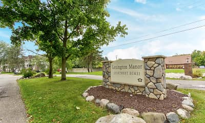 Community Signage, Lexington Manor, 2