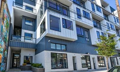 Building, Metal Works Apartments, 1