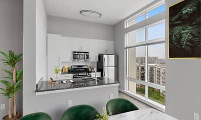 Kitchen, Postmark Apartments, 0