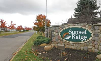Community Signage, Sunset Ridge - MI, 2