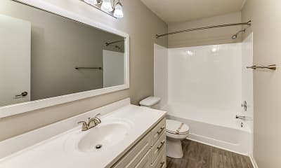 Bathroom, Southfork Townhomes and Flats, 2