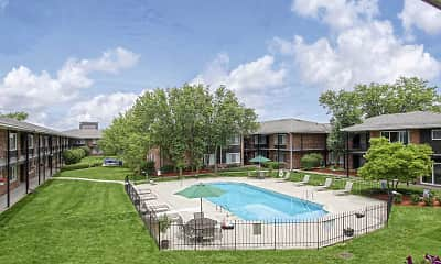 Pool, Huntington House Apartments, 0
