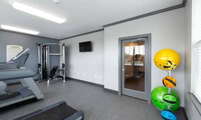 Fitness Weight Room, The Oaks at Ben White, 2