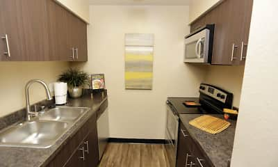 Kitchen, Aspenleaf Apartments, 1
