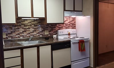 Kitchen, Red Deer Apartments, 1