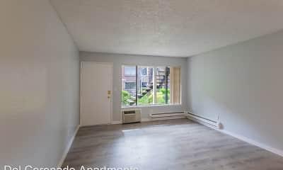 Living Room, Del Coronado Apartments, 0