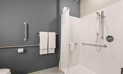 Bathroom, Furnished Studio - Tampa - Gibsonton - Riverview, 2